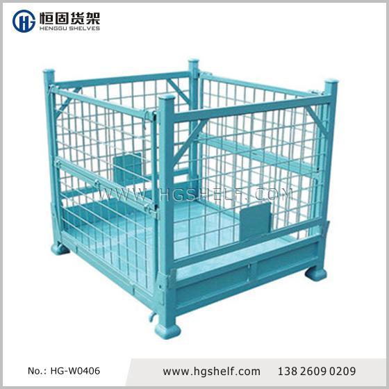 堆垛式网笼箱,堆垛式周转网笼,金属堆垛笼